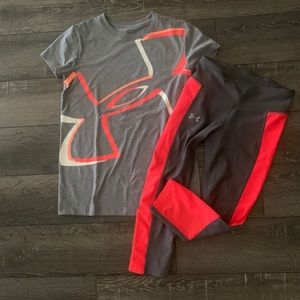 Women's Under Armour workout outfit XS S
